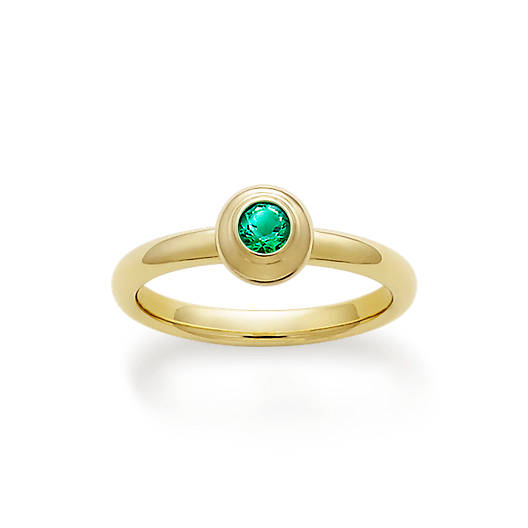 View Larger Image of Avery Remembrance Ring with Lab-Created Emerald