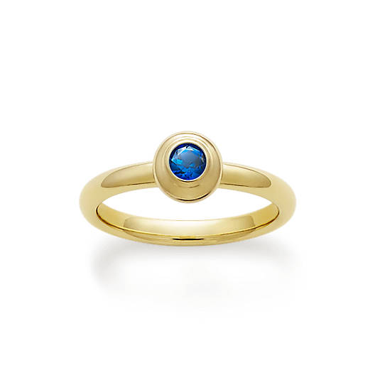 View Larger Image of Avery Remembrance Ring with Lab-Created Blue Sapphire