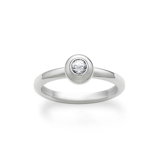View Larger Image of Avery Remembrance Ring with Lab-Created White Sapphire