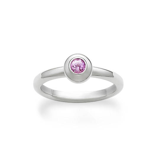 View Larger Image of Avery Remembrance Ring with Lab-Created Pink Sapphire