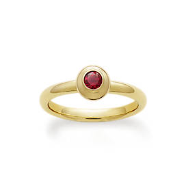 Avery Remembrance Ring with Lab-Created Ruby
