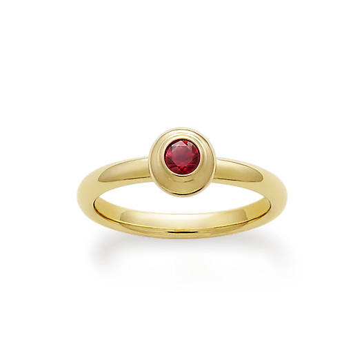 View Larger Image of Avery Remembrance Ring with Lab-Created Ruby