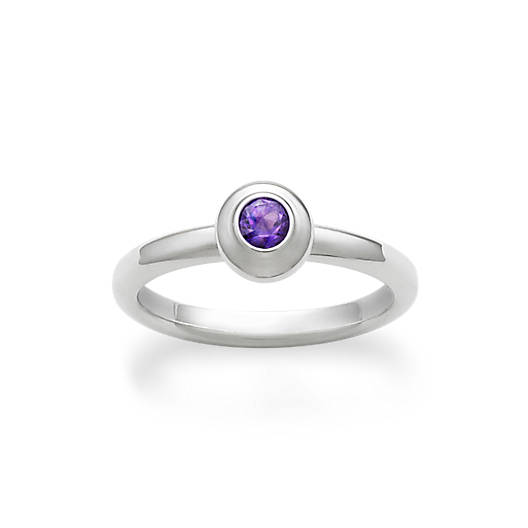View Larger Image of Avery Remembrance Ring with Amethyst