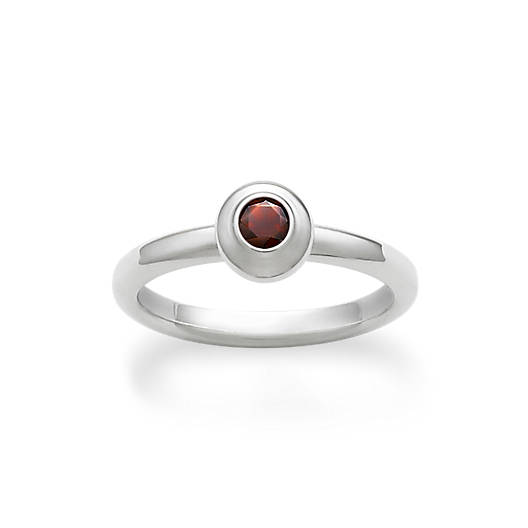 View Larger Image of Avery Remembrance Ring with Garnet