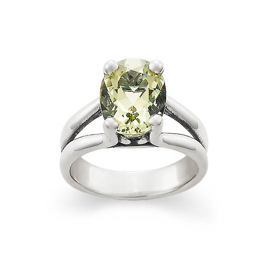 View Larger Image of Oval Prasiolite Ring