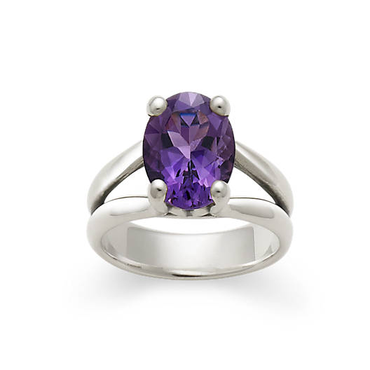 View Larger Image of Oval Amethyst Ring