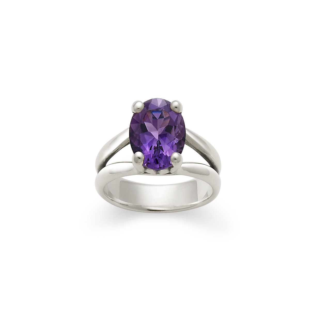 ring silver anillos in square natural lamoon sterling item rings pillows amethyst from fine purple cut engagement women jewelry
