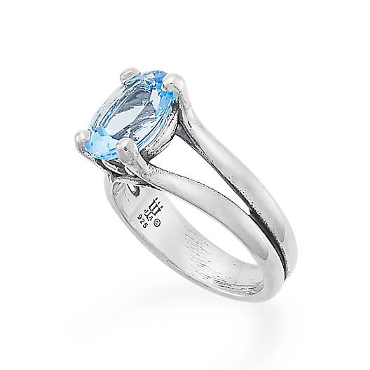 View Larger Image of Oval Blue Topaz Ring