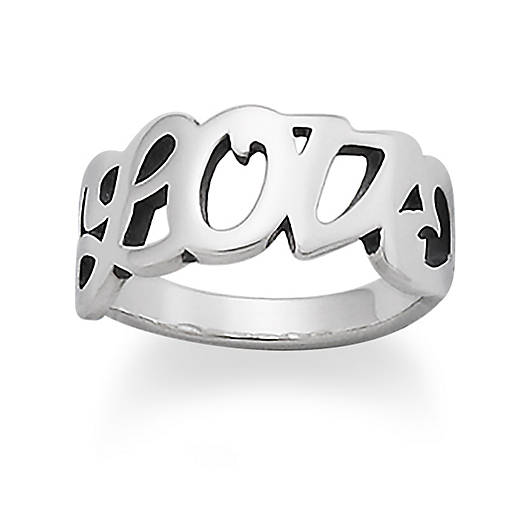 "View Larger Image of ""Love"" Ring"
