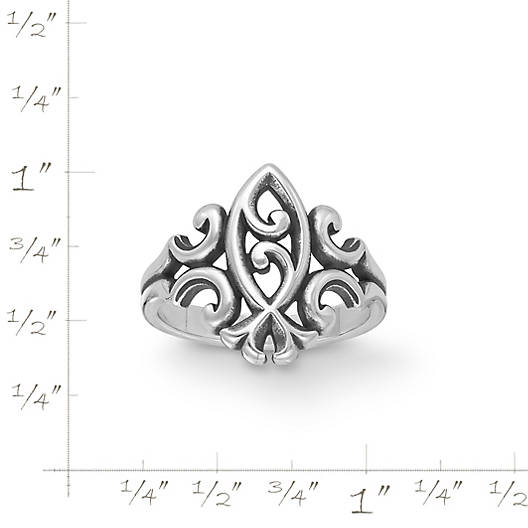 View Larger Image of Scrolled Ichthus Ring