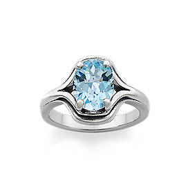 Adriana Ring with Blue Topaz
