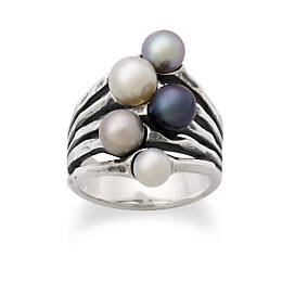 Cultured Burgeon Pearl Ring