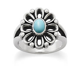 De Flores Ring with Turquoise