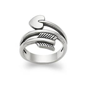 Arrow & Heart Ring