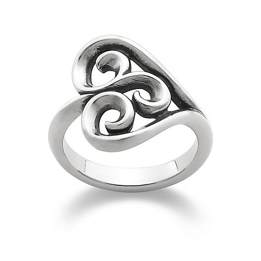 View Larger Image of Swirl Heart Ring