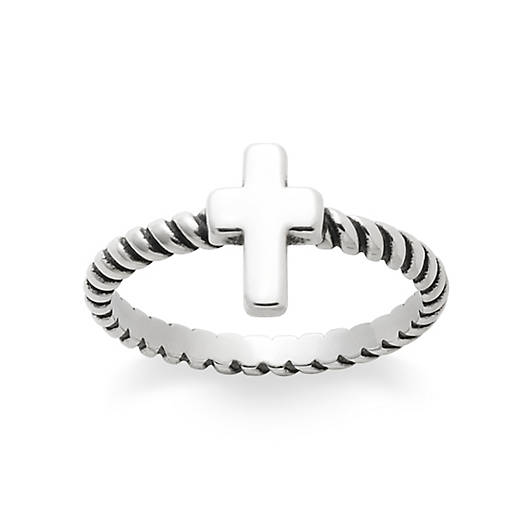 View Larger Image of Twisted Wire Cross Ring