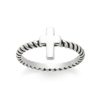 Twisted Wire Cross Ring James Avery
