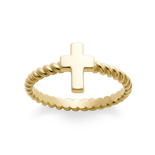 Twisted Wire Cross Ring