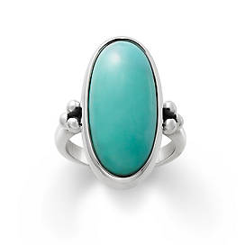 Classic Oval Turquoise Ring