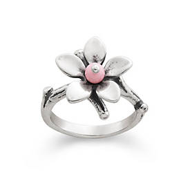 James Avery Turquoise Flower Ring