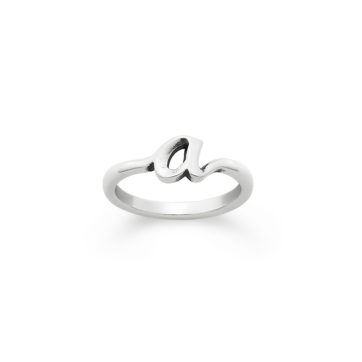 rings rope silver size rhodium over letter with ring in script love sterling band hugerect product