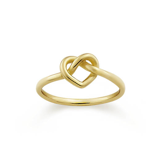 View Larger Image of Delicate Heart Knot Ring