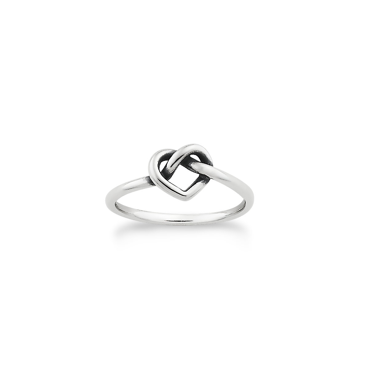 delicate heart knot ring james avery