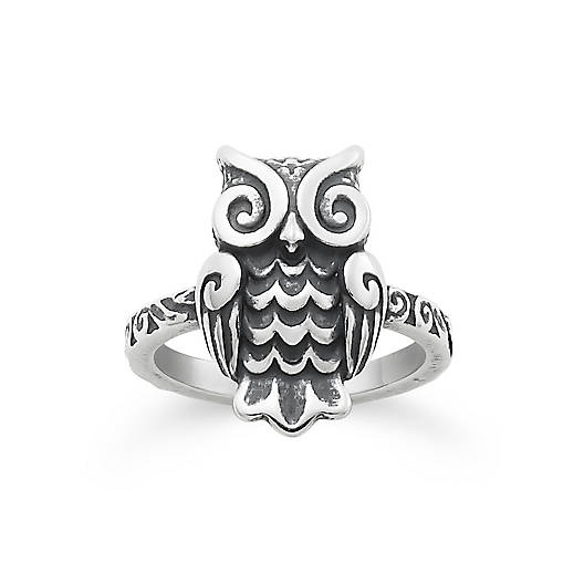 View Larger Image of Woodland Owl Ring