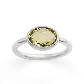 Avery Isabella Lemon Quartz Ring