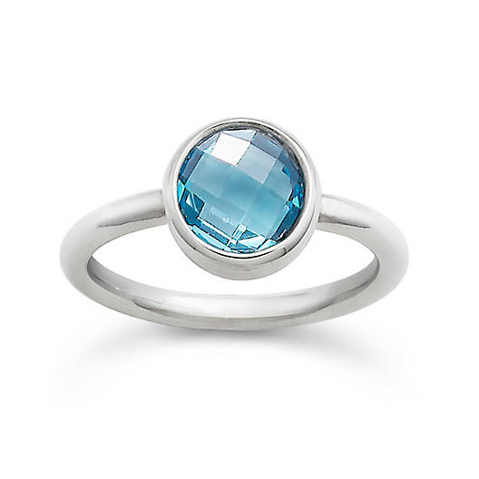View Larger Image of Avery Isabella Blue Topaz Ring