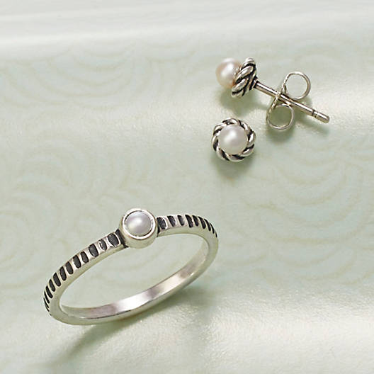 View Larger Image of Tiny Cultured Pearl Ring