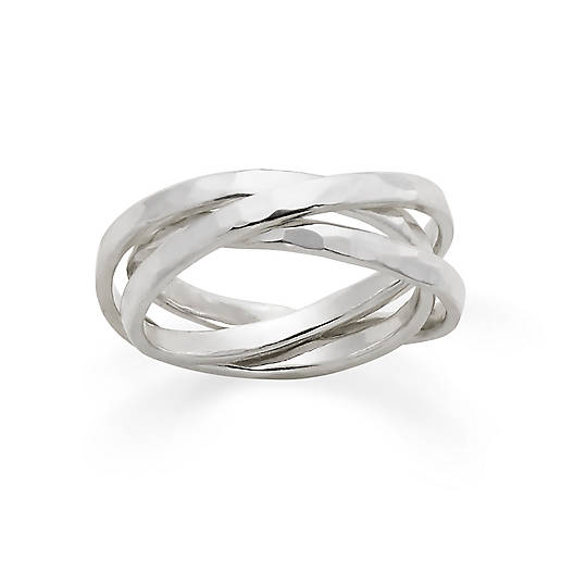 View Larger Image of Entwined Trio Sterling Ring