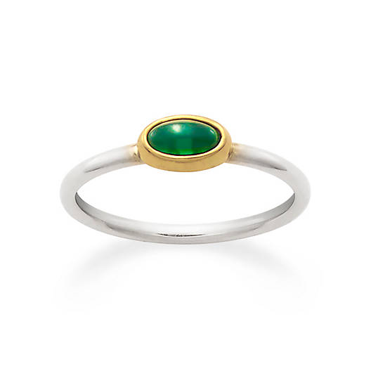 View Larger Image of Petite Lab-Created Emerald Ring