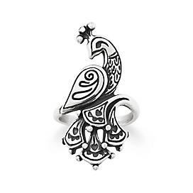 Festive Peacock Ring