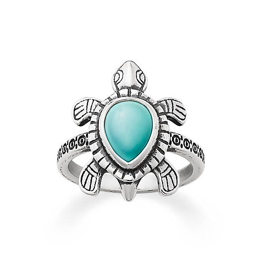 View Larger Image of Turquoise Turtle Ring