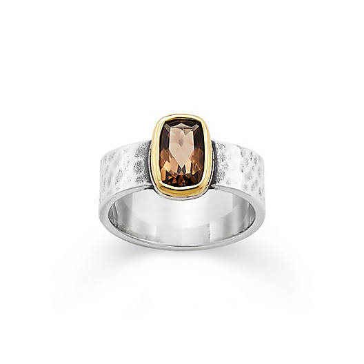 View Larger Image of Graciela Ring with Smoky Quartz