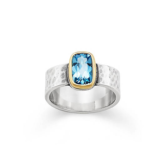 View Larger Image of Graciela Ring with Blue Topaz