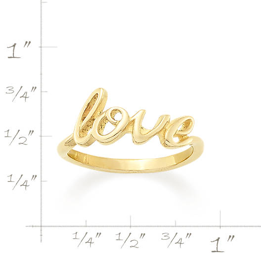 "View Larger Image of ""Love"" Script Ring"