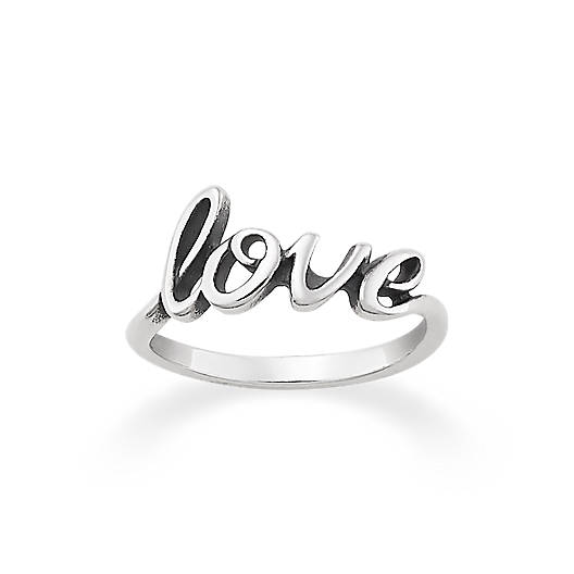 """Love"" Script Ring"