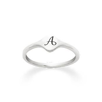 Petite Signet Initial Ring James Avery