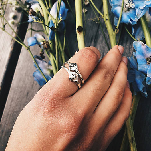View Larger Image of Petite Signet Initial Ring