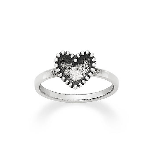 View Larger Image of Beaded Heart Ring