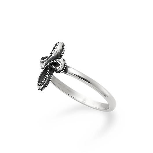 View Larger Image of Petite Eternal Ribbon Cross Ring