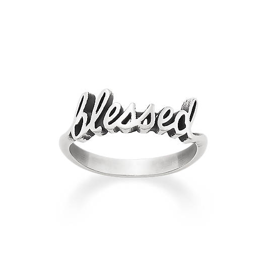 "View Larger Image of ""Blessed"" Ring"