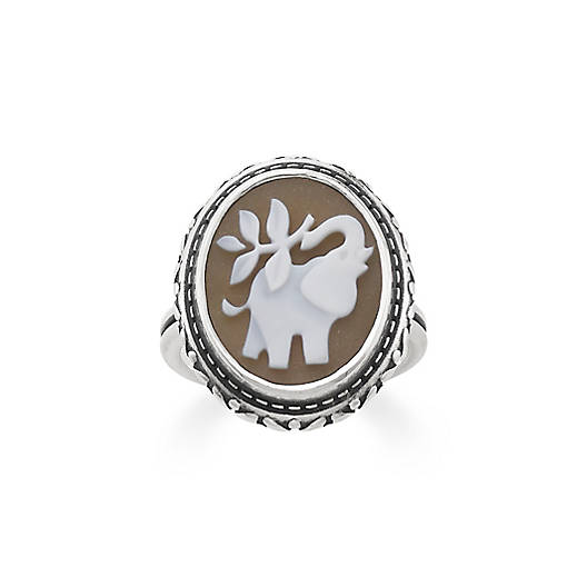View Larger Image of Elephant Cameo Ring