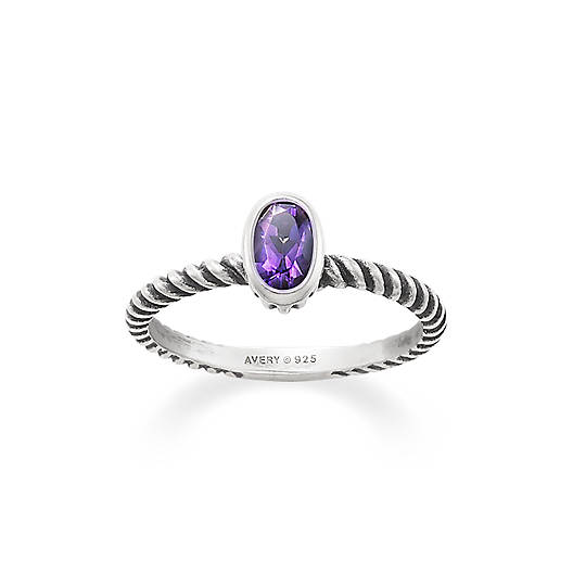 View Larger Image of Elisa Ring with Amethyst