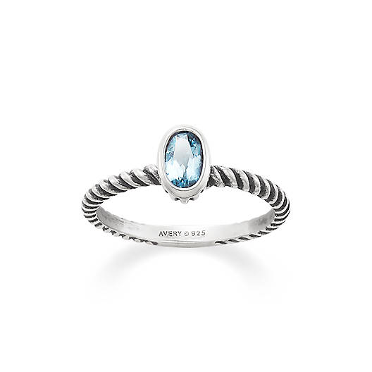 View Larger Image of Elisa Ring with Blue Topaz