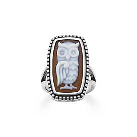 Owl Cameo Ring