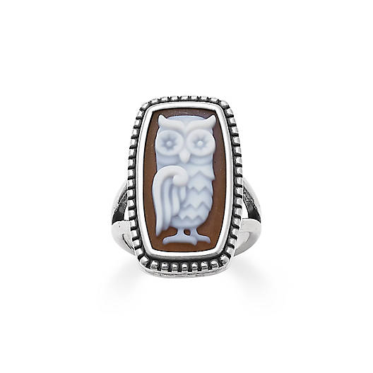 View Larger Image of Owl Cameo Ring