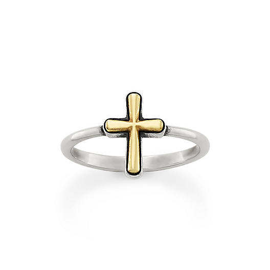 View Larger Image of Gold and Silver Latin Cross Ring